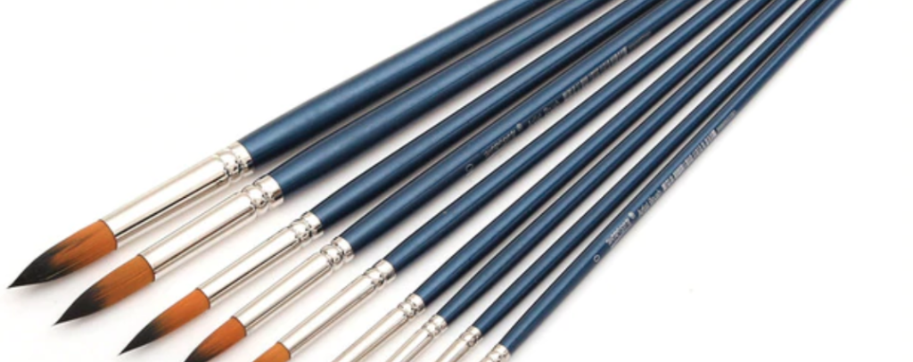 oil painting brushes long handle