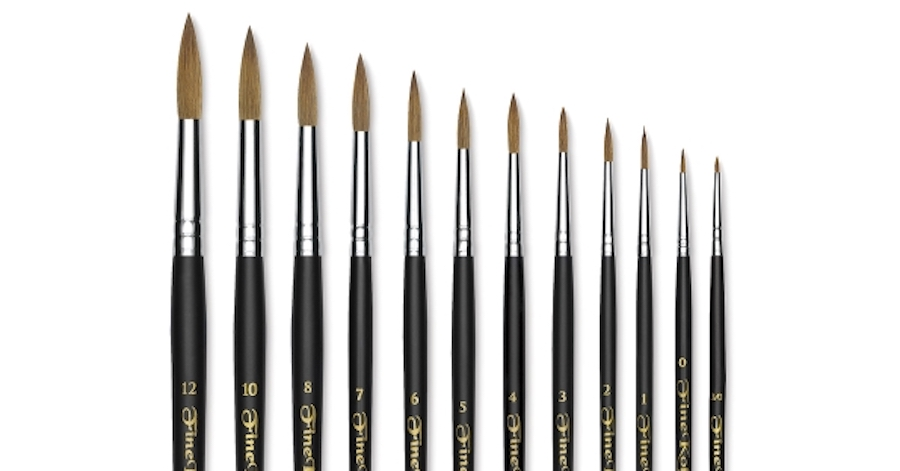 oil painting round brushes short handle